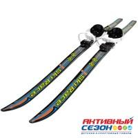 """Лыжи подростковые """"Ski Race"""" унив.крепление """"Цикл"""", с палками стеклопластик (140/105) 332485"""
