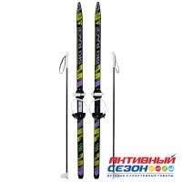 """Лыжи подростковые """"Ski Race"""" унив.крепление """"Цикл"""", с палками стеклопластик (150/110) 332508"""