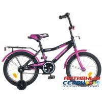 Велосипед Novatrack Cosmic 12'' (черный; синий; красный)