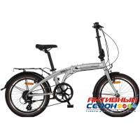 Велосипед складной Novatrack TG-20 (20'' 8 скор.) (Цвет: Серебряный) Рама Алюминий