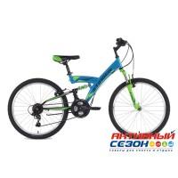 """Велосипед Stinger Banzai (24"""" 18 скор.) (Р-р = 14"""" Цвет: Синий; Черный) Рама Сталь"""