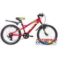 """Велосипед NOVATRACK TORNADO 2020 (20"""" 7 скор.) (Цвет: Черный; Красный) Рама алюминий"""