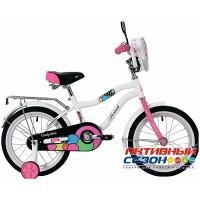 """Детский велосипед NOVATRACK CANDY 16"""" (Белый, Коралловый)"""