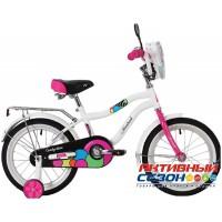 """Детский велосипед NOVATRACK CANDY 20"""" (2020) (Белый; Коралловый)"""