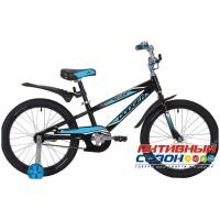 """Детский велосипед Novatrack Dodger (20"""" 1 скор.) (Черный) Рама Алюминий"""
