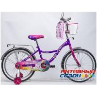 """Детский велосипед Novatrack Little Girlzz 20"""" (фиолетовый)"""
