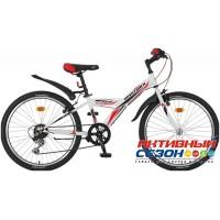 "Велосипед NOVATRACK RACER 2020 (24"" 6 скор.) (Р-р = 10""; 12""; Цвет: Белый) Рама Сталь"