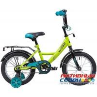 """Велосипед Novatrack Vector 14"""" (2020) (Серебристый; салатовый; оранжевый; лиловый)"""