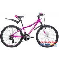 """Велосипед Novatrack Katrina (24"""" 21 скор.) (Р-р = 12""""; Цвет:Фиолетовый ) Рама Алюминий"""