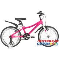 """Детский велосипед NOVATRACK 18"""" PRIME 2020 (Синий, Розовый) Рама алюминий"""
