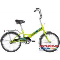 Велосипед складной Novatrack TG-20 classic (20'' 1 скор.) (Цвет: Зеленый) Рама Сталь