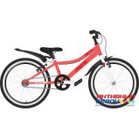 "Велосипед NOVATRACK PRIME (20"" 1 скор.) (Цвет: терракот) Рама Сталь"