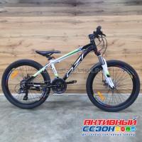 """Велосипед OZI (24"""", 21 скор.) (р-р 13; Цвет: бело-черный) А2403D"""