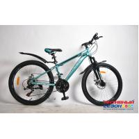 "Велосипед Rook MА240D (24"" 21 скор.) (Цвет: синий/серебристый) Рама Алюминий"
