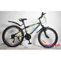 """Велосипед Rook MS241 (24"""" 21 скор.) (  Цвет: черный/желтый) Рама сталь"""