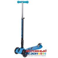 Самокат-кикборд Novatrack RainBow, подростковый, складной, свет. колеса (голубой)