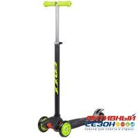 Самокат-кикборд FOXX RainBow, подростковый, свет. колеса (зеленый)