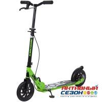 Самокат городской NOVATRACK POLIS колеса 200 мм (зеленый)