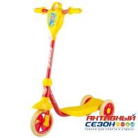 Самокат городской Foxx Baby с пластиковой платформой и EVA колесами 115мм (желто-красный)