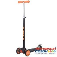 Самокат-кикборд FOXX RainBow, подростковый, свет. колеса (оранжевый)