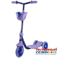 Самокат городской Foxx Baby с корзинкой, пластиковой платформой и EVA колесами 115мм (ультрамарин)