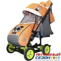 Санки-коляска Galaxy city 3-2 (Панда оранжевый)