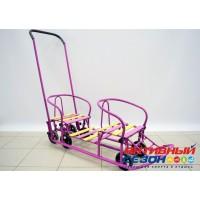 Санки ПОГОДКИ УНИВЕРСАЛ - 1 (с механизмом выдвижных колесных шасси) (Фиолетовый)