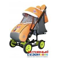 Санки-коляска Galaxy city 3-2 (Пингвин оранжевый)