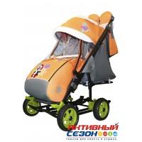 Санки-коляска Galaxy city 3-1 (Пингвин оранжевый)