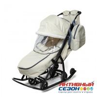 Санки-коляска Pikate Снеговик (Бежевый)