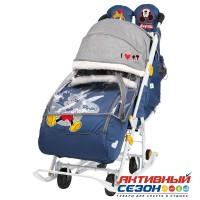 Санки-коляска Ника Детям Disney baby 2 Микки Маус (синий)