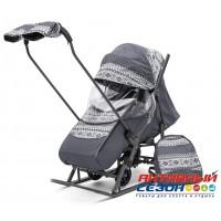 Санки-коляска Pikate Скандинавия (Серый)