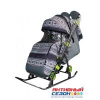 Санки-коляска Galaxy Kids 3-1 финляндия черная