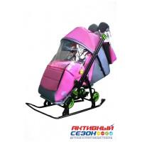 Санки-коляска Galaxy Kids 3-4 розовый