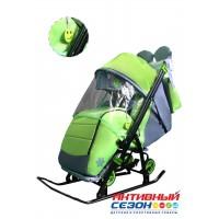 Санки-коляска Galaxy Kids 3-4 салатовый