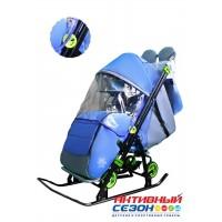 Санки-коляска Galaxy Kids 3-4 синий
