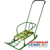 Санки Тимка 5 Юниор Комфорт (с большим колесом) (зеленый)