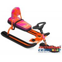 Снегокат «ТИМКА СПОРТ» со спинкой ТС4-1 (Nika kids colors (оранжевый каркас))
