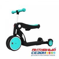Скутер 5в1 (беговел, самокат, велосипед) DGN5-1 Синий