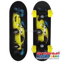 Скейтборд детский «Машинка» 44х14 см, колёса PVC d=50 мм