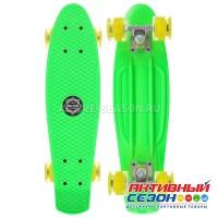 Скейтборд 56x15 см, колёса световые PU 60х45 мм, алюминиевая рама, цвета микс