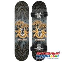 Скейтборд с ярким рисунком на деке, алюминиевая рама, колёса PU 60х45 мм