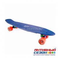 Скейтборд пластиковый Tech Team Classic 27 TLS-402 (голубой, розовый)