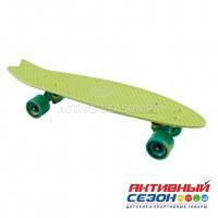 Скейтборд пластиковый Tech Team Fishboard 23 (Цвета: розовый, небесно-голубой, темно-зеленый, светло-зеленый)