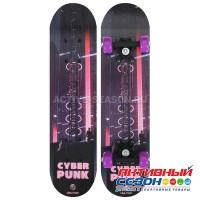 Скейтборд подростковый «Киберпанк» 62 × 16 см, колёса PVC 50 мм, пластиковая рама