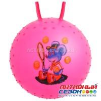 Мяч прыгун с рожками «Сказочные истории», массажный, d=65 см, 600 г, МИКС