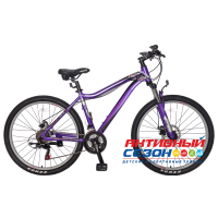 """Велосипед TechTeam Elis (26"""", 21 скор.) (Р-р= 15"""", 17"""", Цвет: Фиолетовый, Желтый) Рама алюминий"""