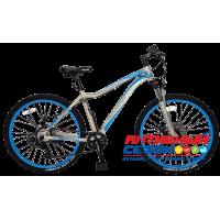 """Велосипед TechTeam Elis (27,5"""", 21 скор.) (Р-р= 18"""", Цвет: Фиолетовый, Голубой) Рама алюминий"""