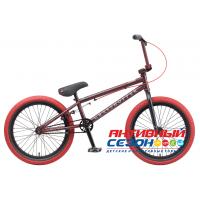 """Велосипед TechTeam Grasshoper (20"""", 1 скор.) (Р-р= 20.5"""", Цвет: Черно-красный, серо-зеленый) Рама сталь"""