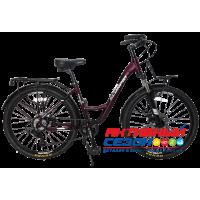 """Велосипед TechTeam Scorpio (26"""", 8 скор.) (Р-р= 16"""", Цвет: Персиковый, Вишневый) Рама алюминий"""
